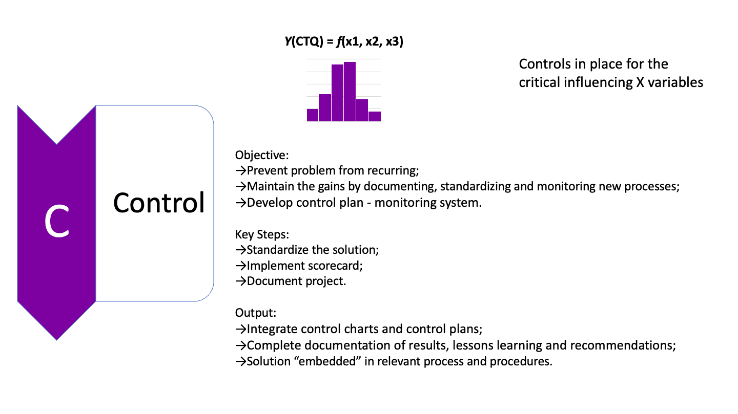 Control phase of LSS project