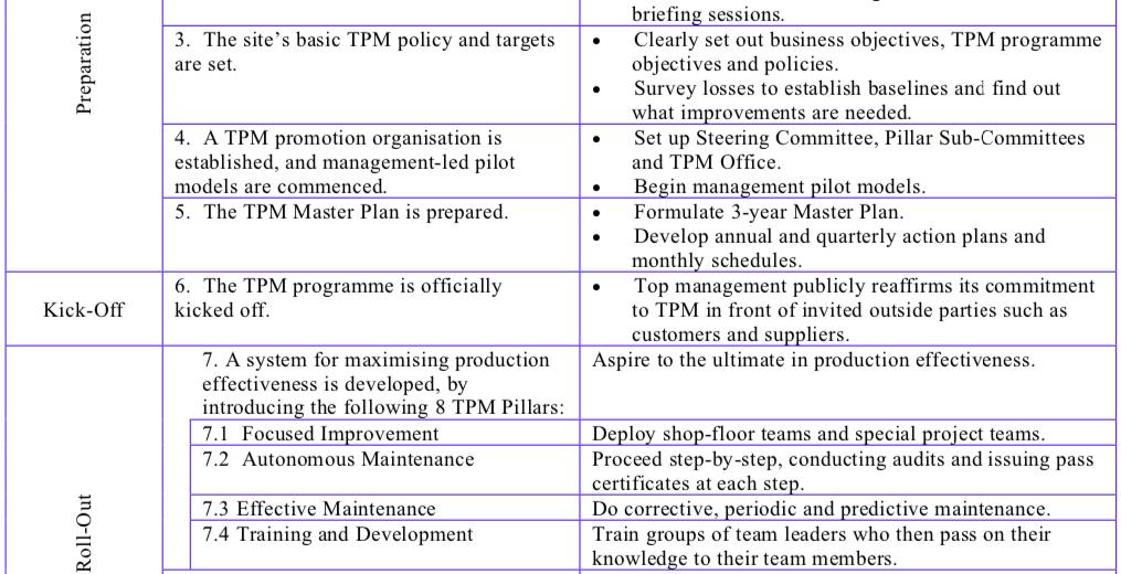 The 12-Step TPM Development Program